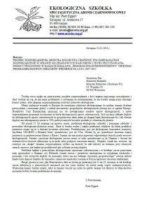 pismo dokument ekologiczna szkółka