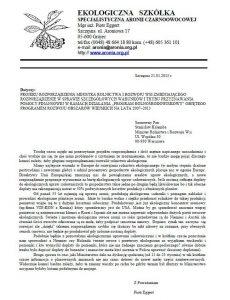 dokument ekologiczna szkółka